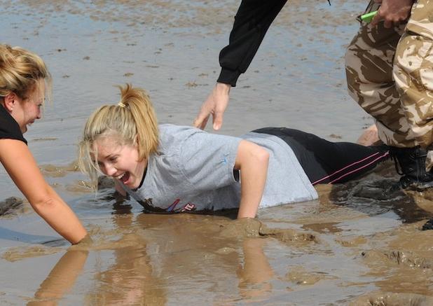 Caggie Dunlop gets muddy at No 1 Boot Camp - 1 May 2014