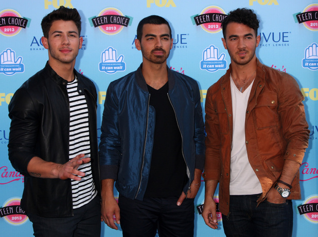 The Jonas Brothers at the Teen Choice Awards 2013. 11 August 2013.