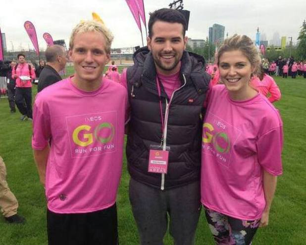 - TOWIE's Ricky Rayment joined forces with Made In Chelsea's Jamie Laing and his former co-star Ashley James for the GO Run For Fun event at Stratford (1 May).