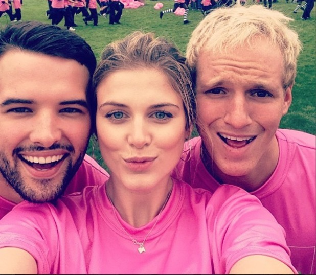 TOWIE's Ricky Rayment joined forces with Made In Chelsea's Jamie Laing and his former co-star Ashley James for the GO Run For Fun event at Stratford (1 May).