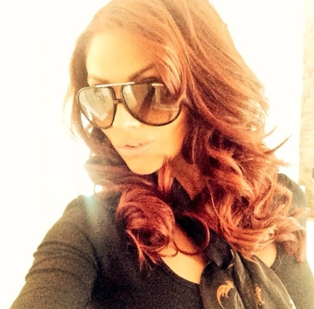 Amy Childs' new Easilocks extensions, 27 April 2014