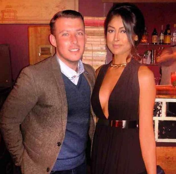 TOWIE's Lil Chris teases romance with Ex On The Beach's Farah Sattaur at the launch party for the new luxury eyelash brand Secret Diva at Steam and Rye. 30 April 2014.
