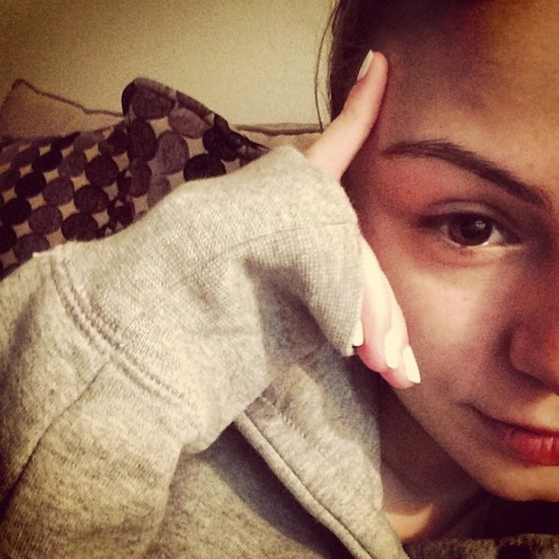 Cher Lloyd goes make-up free in an Instagram selfie - 28 April 2014