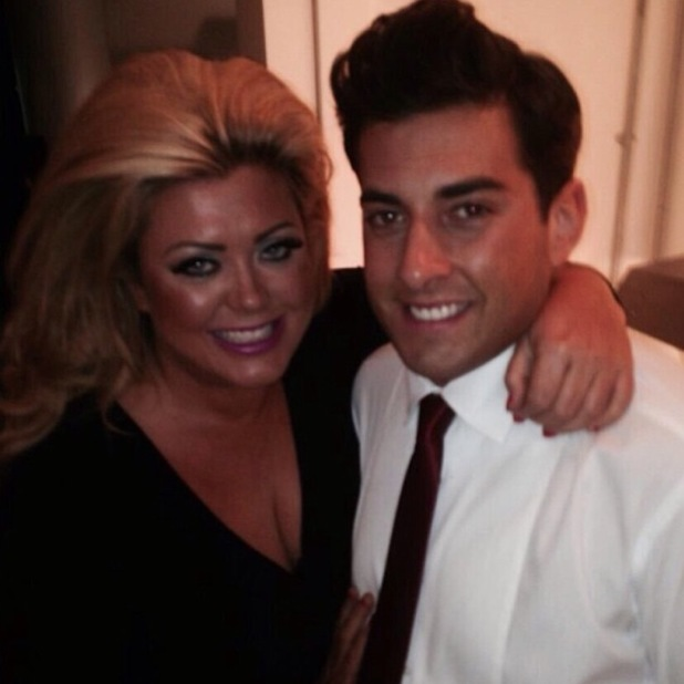 TOWIE's Gemma Collins and James 'Arg' Argent pose for an Instagram picture - 7 February 2014