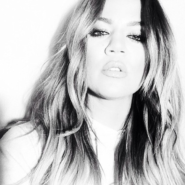 Khloe Kardashian shares black and white selfie, 3 May 2014
