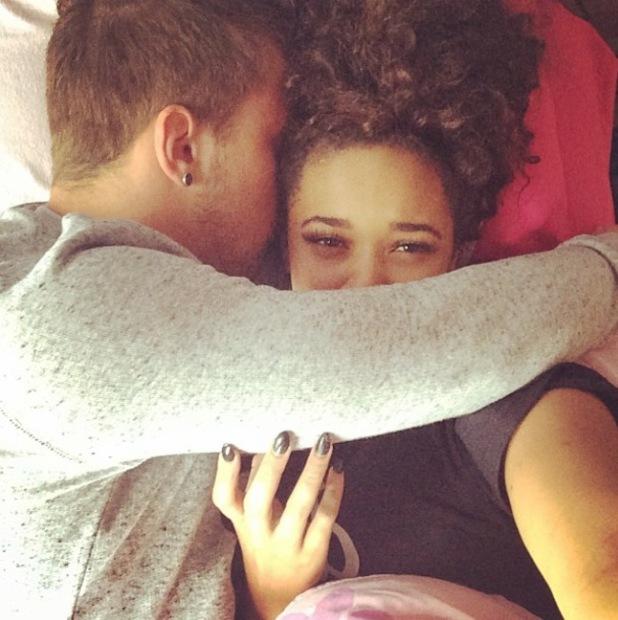 The X Factor's Sam Callahan and Tamera Foster cuddle after Hannah Barrett's birthday - 2 May 2014