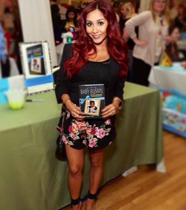 Snooki attends Biggest Baby Shower event in New York to promote her Baby Bumps book, 29 April 2014
