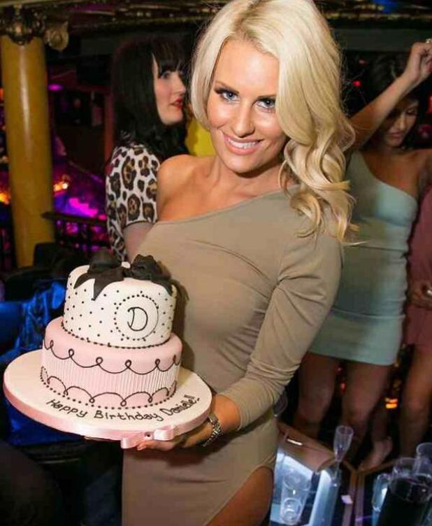 TOWIE's Danielle Armstong celebrates her birthday, 3 May 2014