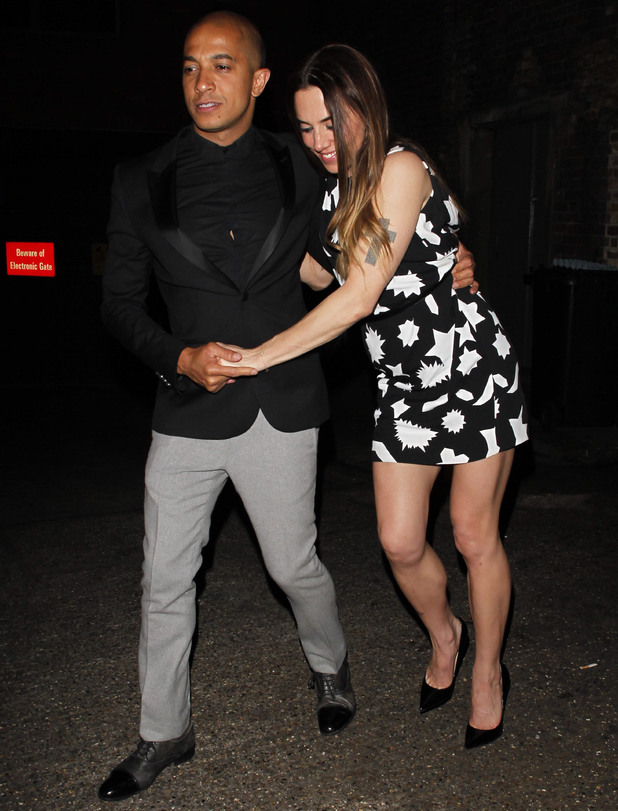Victoria Beckham's 40th Birthday at the Arts Club, London, Britain - 27 Apr 2014 Jade Jones and Melanie Chisholm