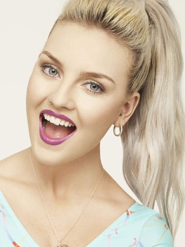 Little Mix's Perrie Edwards models her new make-up range for Collection - April 2014