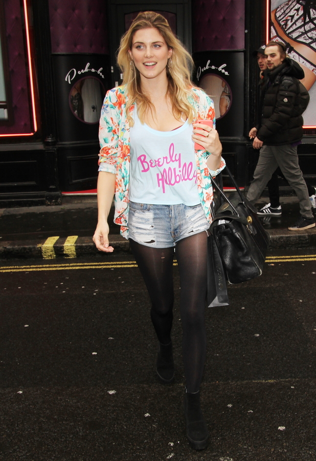 Former Made In Chelsea star Ashley James stops by the Ann Summers and Giles Deacon event in London, England - 1 May 2014