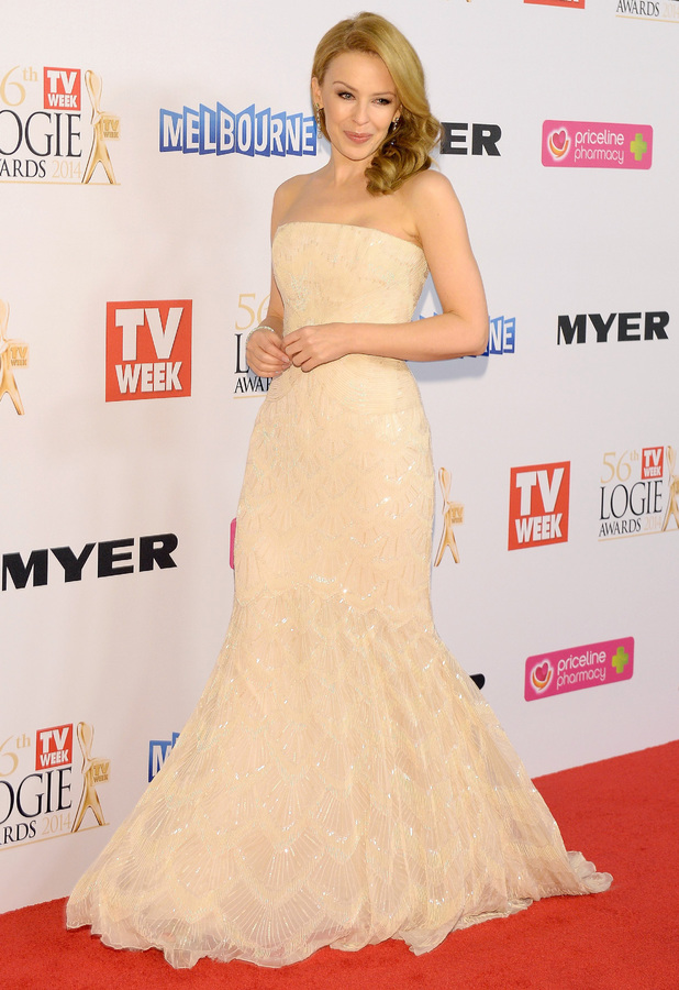 Kylie Minogue attends the 56th Annual TV Week Logie Awards in Melbourne, Australia - 27 April 2014