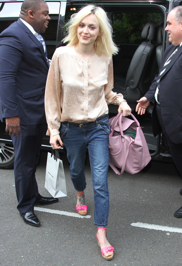 Fearne Cotton arrives at the ITV studios to film a new episode of Celebrity Juice - London, England - 30 April 2014