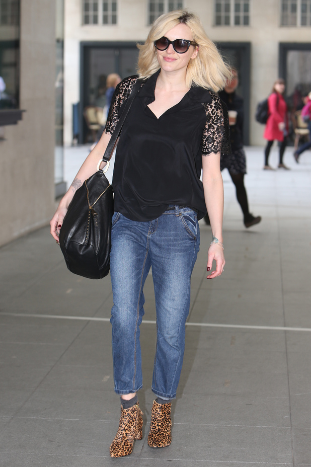 Fearne Cotton outside the BBC Radio 1 studios in London, England - 30 April 2014