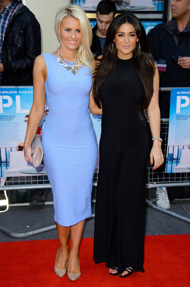 Casey Batchelor and Danielle Armstrong attend the premiere of Plastic in London, England - 29 April 2014