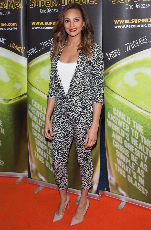 Alesha Dixon attends the premiere of Super Juice Me! in London, England - 26 April 2014