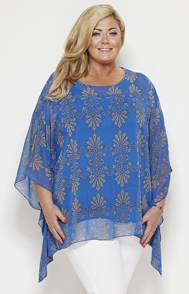 TOWIE's Gemma Collins models the Havana kaftan from her fifth clothing collection - 1 May 2014