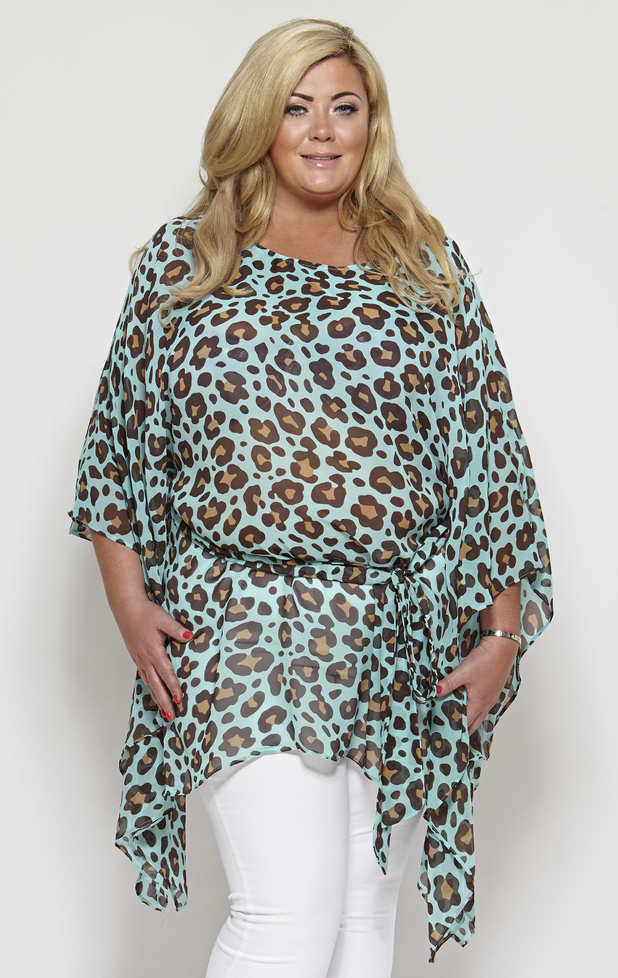 TOWIE's Gemma Collins models the St. Kitts kaftan, £55, from her fifth clothing collection - 1 May 2014