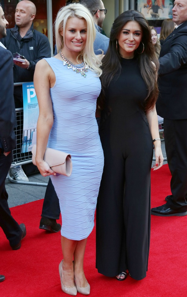 Danielle Armstrong and Casey Batchelor, World Premiere of Plastic at the Odeon West End, London, 29 April 2014
