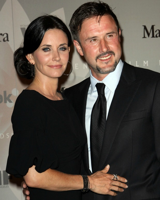 David Arquette and Courteney Cox at the 2010 Crystal + Lucy Awards in California, 01.06.10