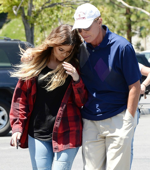 Khloe Kardashian and Bruce Jenner at Costco, 'Keeping Up With The Kardashians' on set filming, Los Angeles, America - 29 Apr 2014