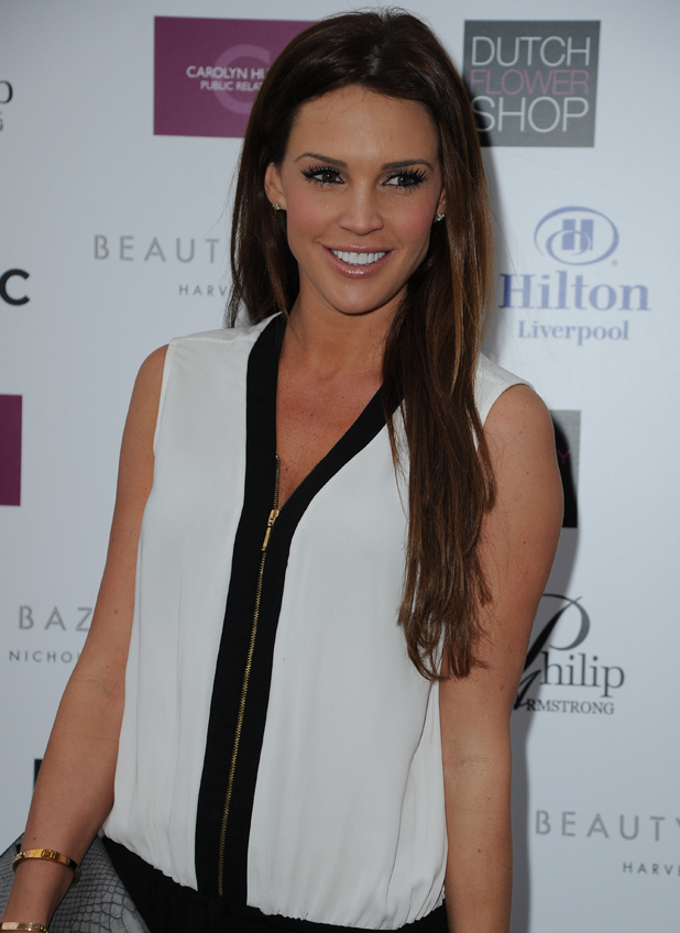 Danielle Lloyd arrives for the launch of Phillip Armstrongs new store in Liverpool, 1 May 2014