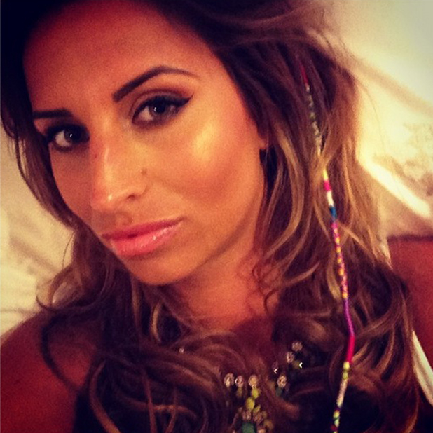 TOWIE's Ferne McCann shares a selfie from holiday in Spain, 28 April 2014