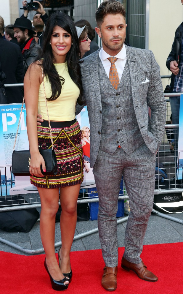 Jasmin Walia and Ross Worswick, World Premiere of Plastic at the Odeon West End, 29 April 2014