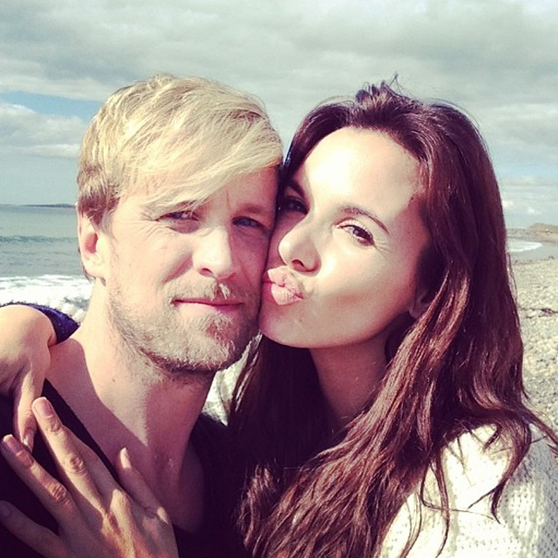 Jodi Albert and Kian Egan take a selfie during Kian's video shoot to mark Kian's 34th birthday, 29 April 2014