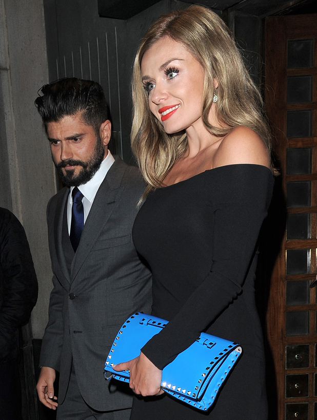 Katherine Jenkins arrives at the Ivy restaurant for a private dinner with Andrew Levitas to celebrate her OBE, London, March 2014