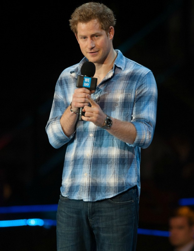 Prince Harry at 'WE day UK' held at Wembley Arena - March 2014