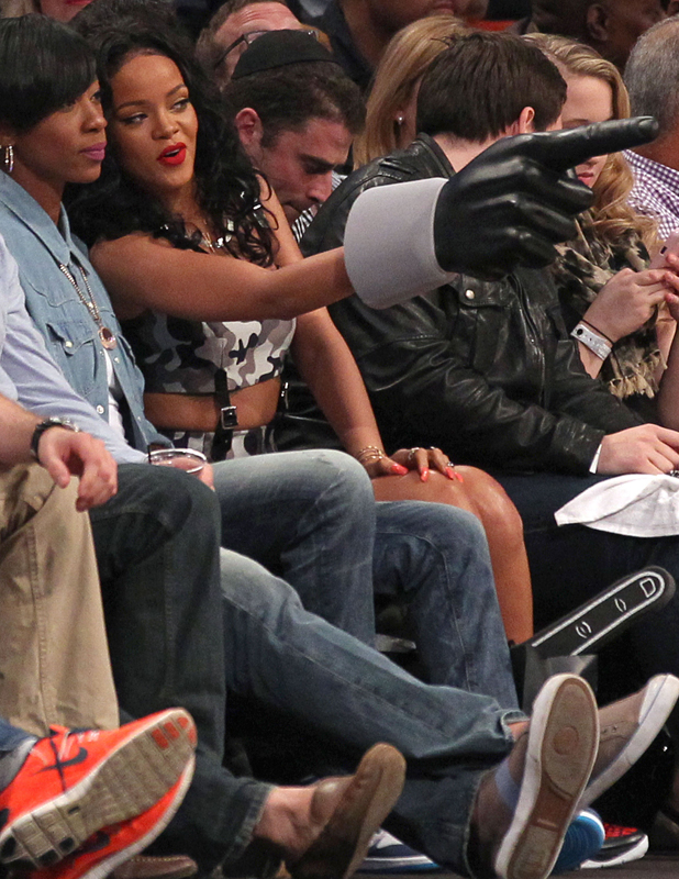 Rihanna attends Toronto Raptors vs Brooklyn Nets NBA Playoff Game, New York, America - 27 Apr 2014