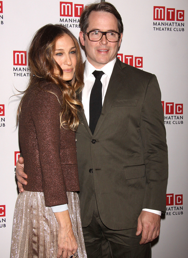 Sarah Jessica Parker and Matthew Broderick at opening night after party for the MTC production of The Commons of Pensacola, New York, 2013