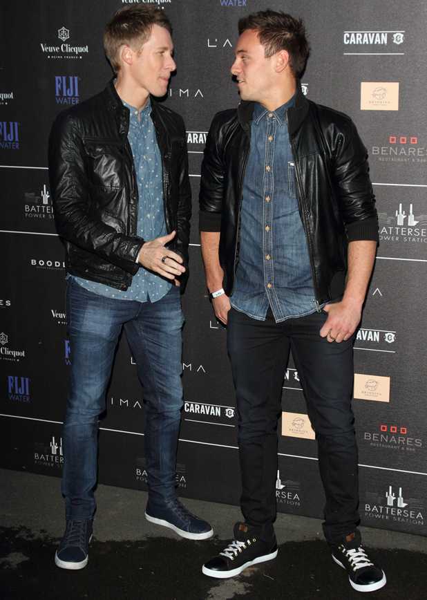 Tom Daley and Dustin Lance Black at Battersea Power Station Inaugural Annual Party at Battersea Power Station, London, 30 April 2014