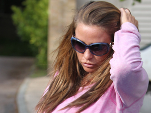 Katie Price pictured after confronting Kieran Hayler and Jane Pountney - 7 May 2014