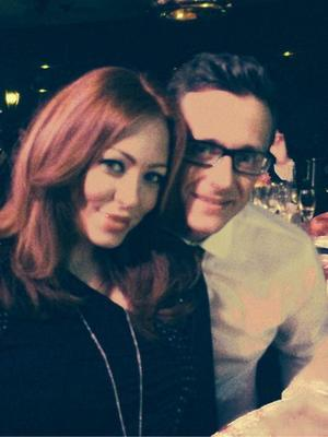 Ritchie Neville and Natasha Hamilton pose for photo inside the London Cabaret Club - Spring VIP launch 05/08/2014 London, United Kingdom