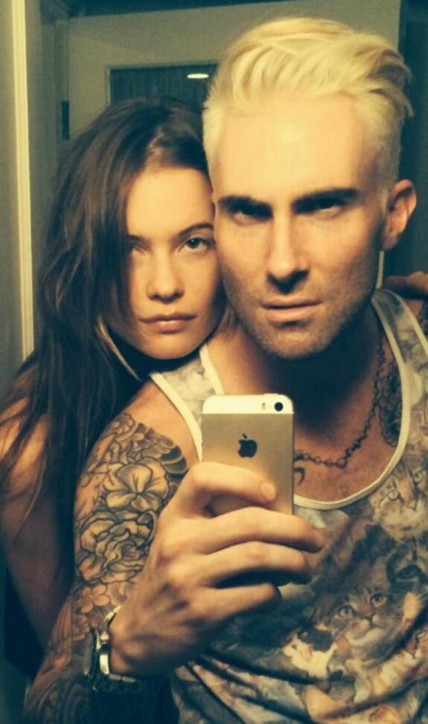 adam levine gets extreme makeover dyes hair platinum