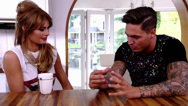 Mario Falcone and Chloe Sims talking on ITV2 TOWIE