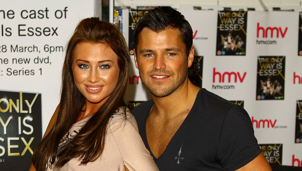 Lauren Goodger, Mark Wright 'The Only Way Is Essex' cast promote and sign copies of their new DVD at HMV in Lakeside mall. Essex, England - 28.03.11