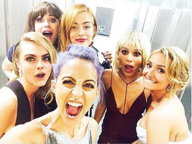 Cara Delevingne shares a Met Ball selfie with her celeb pals