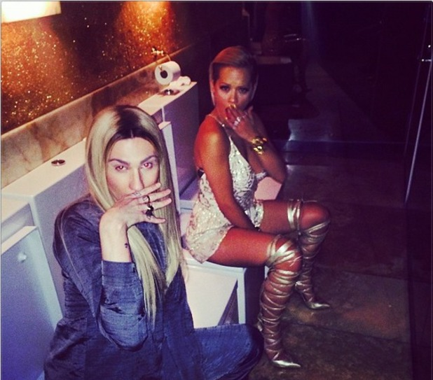 Rita Ora shares photo on toilet at Met Ball 6.5.14
