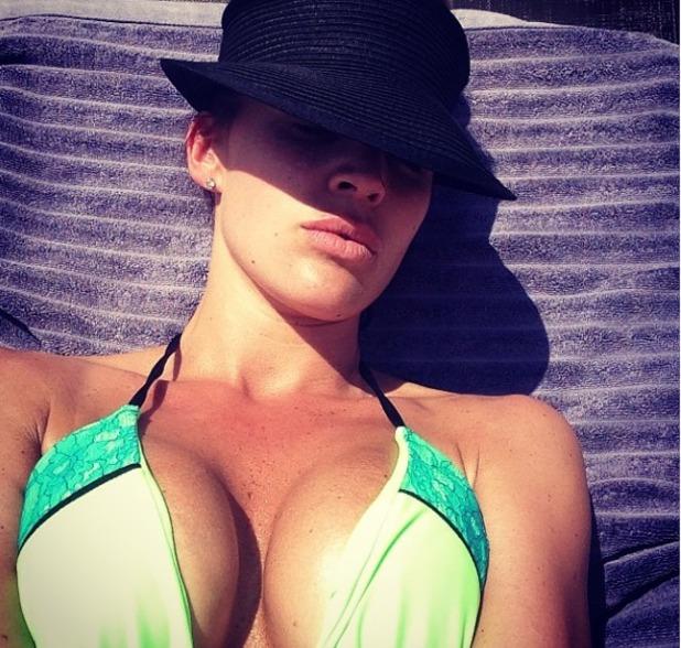 Danielle Llloyd bikini selfie, May 14
