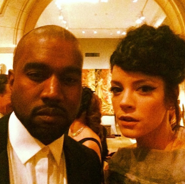 Lily Allen and Kanye West at the Met Ball Gala in New York - 5 May 2014