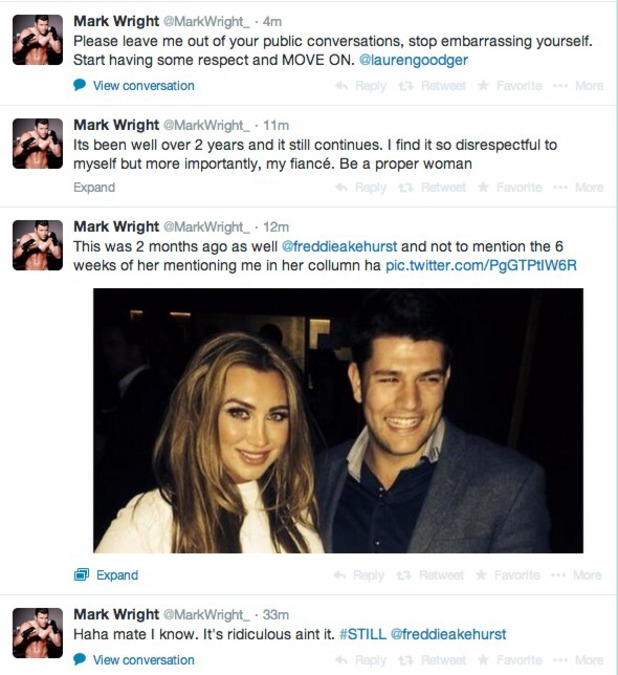 Mark Wright hits out at Lauren Goodger on Twitter 6/5/14