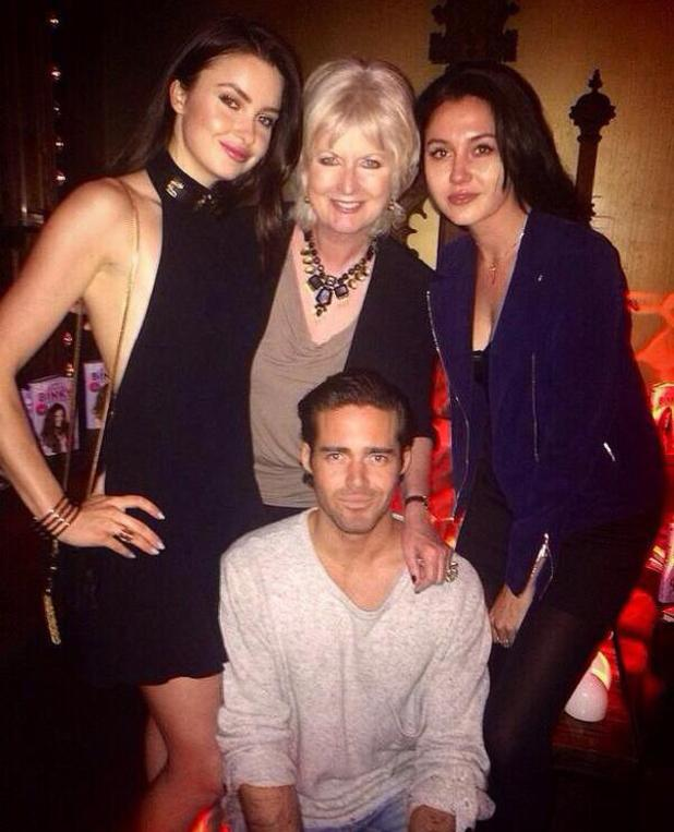 Made In Chelsea: Emma Miller, Spencer Matthews and Jane Felstead at Binky's book launch. London (6 May).