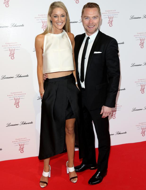 Ronan Keating and Storm Uechtritz at Gabrielle's Gala, Old Billingsgate, 7 May 2014