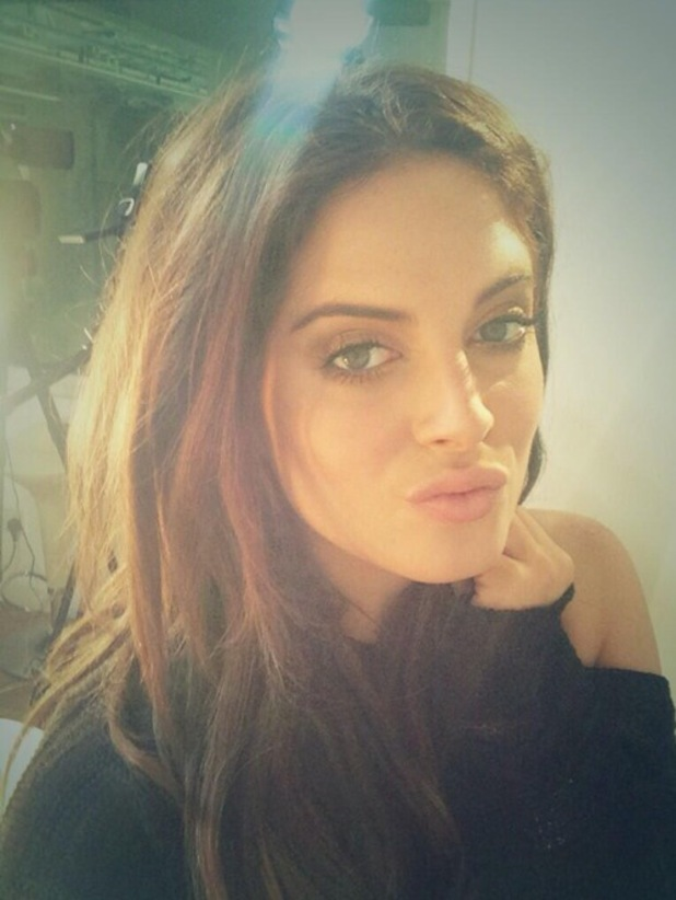 Made In Chelsea's Binky Felstead poses for a Twitter selfie - 22 April 2014