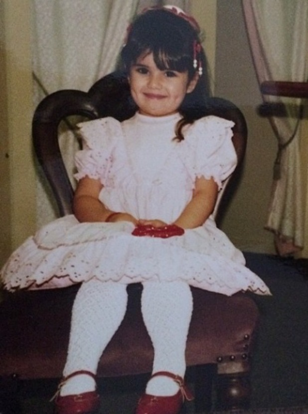 Cheryl Cole shares cute picture of herself in a party dress as a child - 9 May 2014