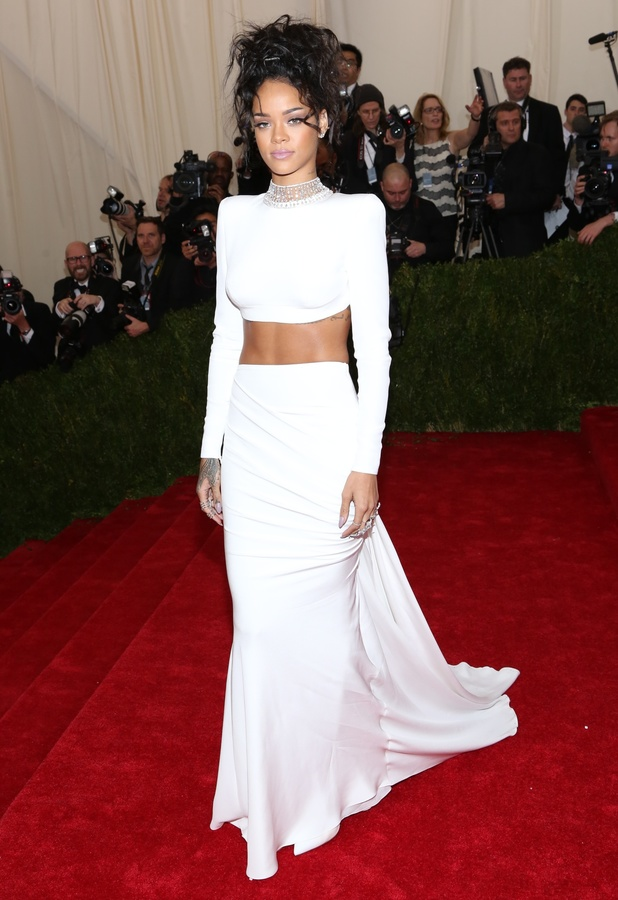 Rihanna attends the Costume Institute Gala Benefit at the Metropolitan Museum of Art in New York, America - 5 May 2014