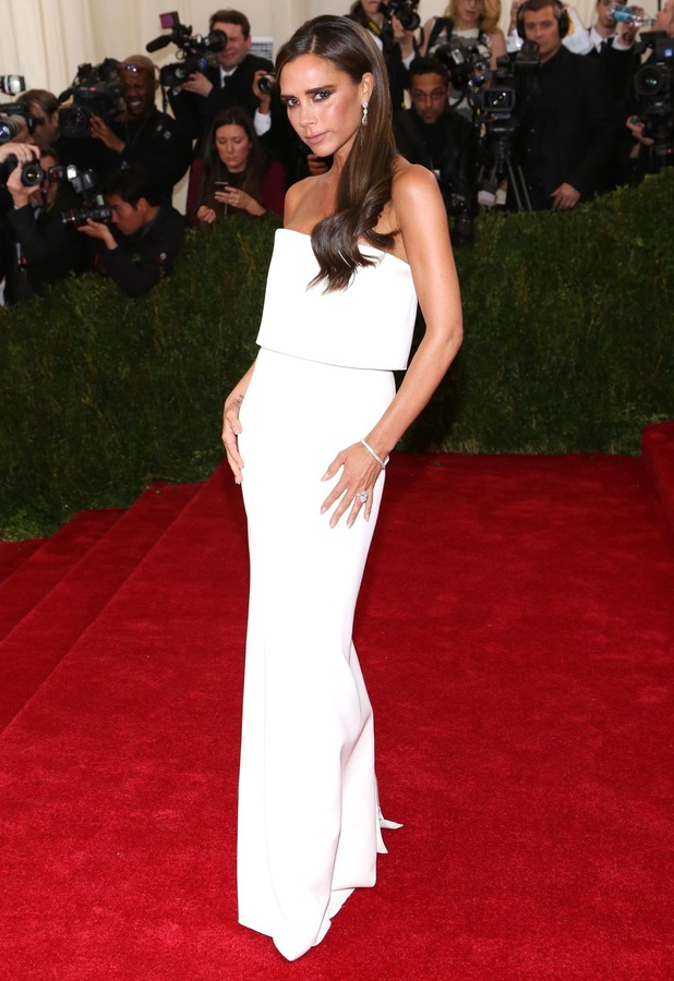 Victoria Beckham attends the Costume Institute Gala Benefit at the Metropolitan Museum of Art in New York, America - 5 May 2014